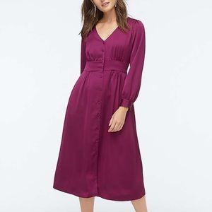 NWT J Crew | Button Front A Line Dress